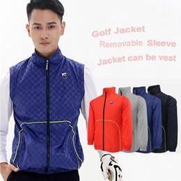 $enCountryForm.capitalKeyWord Australia - men golf Jackets removable sleeve vest outdoor golf sports windbreaker fall jackets stand collar men velvet vest coat tops