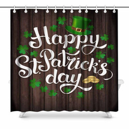 Scenic Curtains Australia - Aplysia Happy St Patrick's Day Bathroom Decor Shower Curtain Set with Hooks 72 Inches