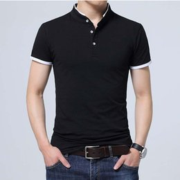 Discount camisa polo slim fit - Summer Men Polo Shirt Short Sleeves Solid Polo Homme Cotton Slim Fit Camisa Polo Men Tops &Tees Size 5xl