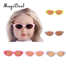 824484cce06d MagiDeal 1Pair Plastic Retro Oval Mod Thick Frame Glasses for 18 Inch American  Girl Doll Baby Doll Clothes Accessories 5Colors