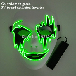 Glow Party Decorations Australia - Sound Control Driver+EL Mask Carnival mask Funny Glowing Party Mask for Halloween Festival Decoration