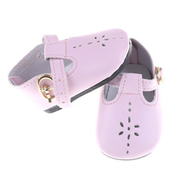 Shoes For American Girl Dolls Australia - 1Pair Baby Born Doll Shoes Fit for Zapf American Girl Baby Born Doll Accessories Girl Gift Pink Leather Shoes 43cm