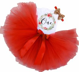 Chinese  Newbron Baby First 2nd Birthday Dress Outfits Kids Clothes for Girls Christening Party Wear Tutu Fluffy Infant Clothing Sets manufacturers