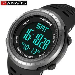 $enCountryForm.capitalKeyWord NZ - PANARS Brand Men's Watches LED Digital Watch Men Wrist Watch Black Alarm 50m Waterproof Sports Watches For Men Relogio Masculino