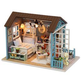$enCountryForm.capitalKeyWord NZ - DIY Doll House Miniature Dollhouse for Doll Mini Home Wooden Cute Living Room Parlor Model Building Toy for Children Kid