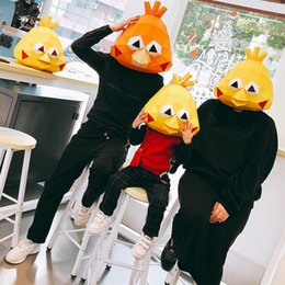 chick toys 2019 - Creative Docomo Parrot Brother Doll Crispy Chicken DIY 3D Paper Art Animal Chick Mascot adults Toys Birthday Party Decor