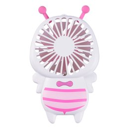 SmalleSt electric fanS online shopping - Small Bee Portable Hand Hold Fans Luminous Electric Night Lamp Mini Usb Rechargeable Fan Wedding Favors For Guest Gifts zk gg