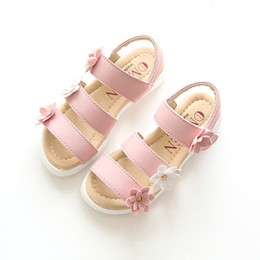 white shoes for flower girls 2020 - cute girl sandals shoes little flowers causal Summer beach shoes for 1-13yrs girls children kids girls outdoor bath shoe