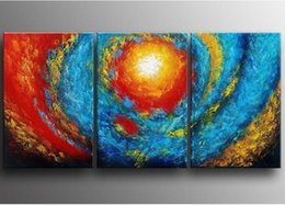 Decorative Hand Paintings Australia - Palette 3 Panel Wall Painting Hand painted Abstract Color Oil Paintings on Canvas Modern Home Decorative Handmade Art Pictures