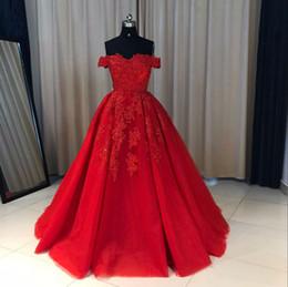 Ingrosso Custom Made Luxury Off Spalla Ball Ball Gown Abiti da sera Dubai Prom Dress Evening Party Dress Plus Size