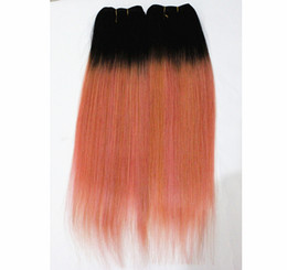 Ombre hair prOducts online shopping - Peruvian Virgin Human Hair Extensions B Blonde Straight pieces Bundles Ombre Color B Blonde Straight Hair Products