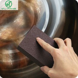 Sponges & Scouring Pads Humor Nanometer Diamond Sand Sponge Magic Pan Pot Windows Cleaning Brush With/without Handle Kitchen Accessories