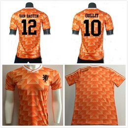 1988 European Cup Netherlands Soccer Jersey 12 VAN BASTEN 10 Gullit 8  Bergkamp Seedorf Holland Home Classic Vintage Orange Football Shirt 884936efe