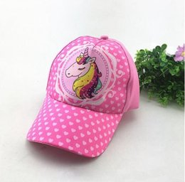 Kids Sun Hats NZ - INS Kids Unicorn Baseball Cap Snapback Cartoon  Adjustable Sun Cap Hip e8e529db1b50