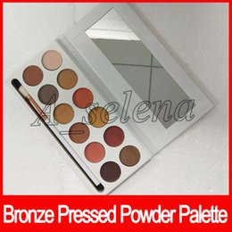 China New KL cosmetics bronze Pressed Powder Palette Eyeshadow Palette 12 Color matte eye makeup Palette with brush suppliers