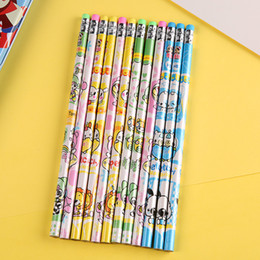 High Quality Pencils Australia - 12PCS lot HB Standard Pencils with Eraser For Children School Classical Wooden Pencil High Quality Office Supplies Pencil