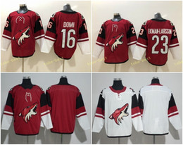 Blank red online shopping - 2018 New Style Arizona Coyotes Hockey Jerseys Max Domi Home Red Oliver Ekman Larsson Blank Jersey