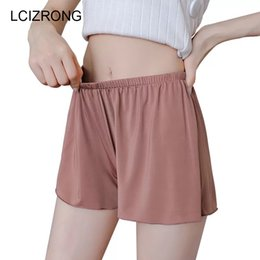 Summer Plus Size Short Sleep Bottoms Women Safety Short Leggings Sexy Loose  Outwear Hot Pants Black White Skin Home Nightgown 40596f642