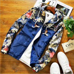 men flower clothes 2019 - 2018 Fashion Style Explosion New Arrivals Men's Fashion Jacket Autumn Long Sleeve Clothing Comfortable Polyester Cl