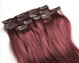 Can bleach human hair extensions australia new featured can 99j red wine russian clip in hair extension double drawn 150g pcs salon clip on human hair can be dyed and bleached pmusecretfo Gallery