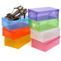 Ingrosso Scatole di plastica per scarpe trasparenti Pratica scatola per scarpe trasparente con stivali per stivali Scarpe con tacchi alti per mescolare il colore per scegliere
