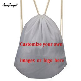 simple drawings 2019 - NOISYDESIGNS Cutomized Your Image Drawstring Bag Kids Draw String Bag Backpack Children School Shoe Bags Simple Dust che