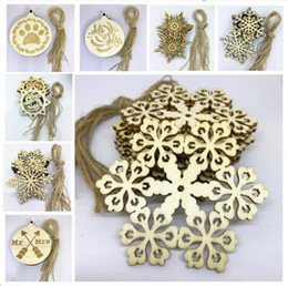 Gift Craft Christmas Ornament Australia - 11 Colors 80*80mm Christams Ornaments Decorations for Wooden Snowflake Piece Word Love Arrow Hanging Pendant with Strap Xmas Gifts Crafts