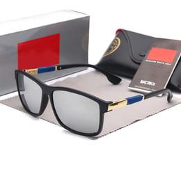 Wayfarer Black White Australia - 4228 Glass Lens Hot Sale Aviator Ray Sunglasses Vintage Pilot Brand Sun Glasses Band Polarized UV400 Bans Men Women Ben wayfarer sunglasses