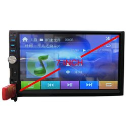 Chinese  hot sale OEM customed 7 inch 2DIN Bluetooth Touch Screen head unit Car Radio Media MP5 Player Free Shipping manufacturers