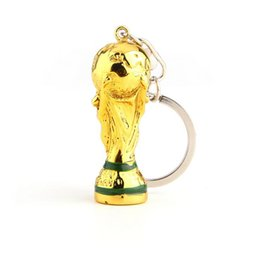 Chinese  New Hot Sale Champions Cup Keychain 2018 Russia World Cup Hercules Cup Keychain Gold Color Trophy LOGO Fans Gift Souvenir Fan Souvenirs manufacturers