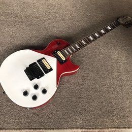 Hot frets online shopping - Hot sales red and white electric guitar with frets and black bridge