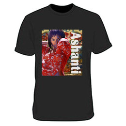 hip hop custom shirts UK - Ashanti Shaquoya Tee Clothing Apparel Tshirt Black New Men's T-Shirt custom printed T-shirt hip hop funny tee mens tee shirts