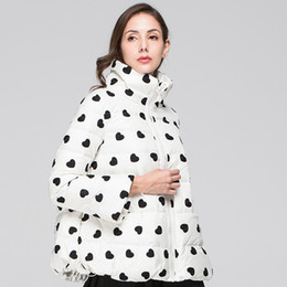 $enCountryForm.capitalKeyWord NZ - Lady 2018 Winter New Thick Warm Down Jacket Fashion Stand Collar Long Sleeve Parka Women Casual Love Embroidery Skirt Coat Z371