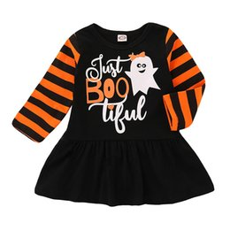 e816c74b1a Tulle brand dresses online shopping - Halloween Baby girls lace Tulle dress  children ghost spider letter