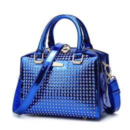 $enCountryForm.capitalKeyWord NZ - New Metal rivets Patent leather Handbags Women Shoulder Bags Design Women Crossbody Bags Ladies Handbag Female Totes Purse 2018