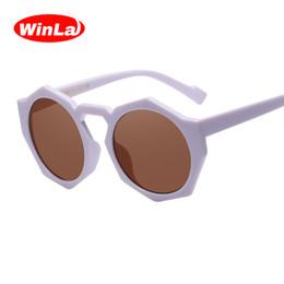 Discount unique design sunglasses - Winla Fashion Design Women Sunglasses Unique Frame Sun Glasses Mirror Lens Classic Shades Female Oculos de sol UV400 Len