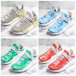 Happy Baseball Australia - 2018 NMD Human Race Men Running Shoes Peace Passion Happy Youth Heart Pharrell Williams Nmds Human Races Mens Trainers Sneakers Size 36-47