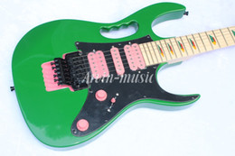 China Arvinmusic High Quality JEM 7V green Electric Guitar, maple fretboard,Pink pickups, free shipping suppliers