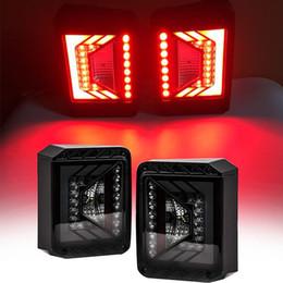 Concorrente série lanternas traseiras LED para Jeep Wrangler JK JKU 2007-2018 com lanternas traseiras de freio de lente de fumaça venda por atacado