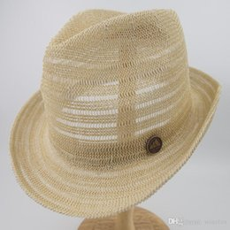 $enCountryForm.capitalKeyWord Australia - Knitted Paper Straw Sun Natrual Style Hat Unisex Summer Trilby Fedora hat for men Street Fashion Hat EPU-MH1852