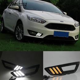 Fog lights Ford Focus drl online shopping - V k LED DRL Daytime running light for Ford Focus fog lamp frame Fog light