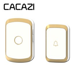 $enCountryForm.capitalKeyWord Australia - CACAZI A20 Wireless Doorbell Waterproof AC 110-220V 300M Remote door bell 36 melody 4 volume 1 button 1 receiver 20SET LOT