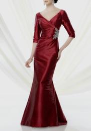 $enCountryForm.capitalKeyWord NZ - free shipping vestido madrinha 2018 new fashion hot sexy half sleeve v-neck long mermaid Mother of the Bride Dresses cap sleeve