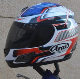 Toptan satış Ücretsiz nakliye motosiklet kask tam yüz kask ARAI ECE mavi