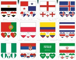 Wholesale Fashion Water Sweat Proof Stickers National Flag Facial Body Paster Healthy Safe Russia World Cup Tattoo Stickers New rc ZZ