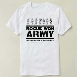 ea36545d630 Rogue Won Army DIY T-Shirt Men Clothes Short Sleeve Slim Fit T Shirt Men T- Shirt Casual T Shirts