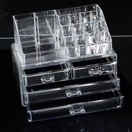 Acrylic Makeup Storage Organizer Australia - Acrylic Cosmetic Container Bedroom Jewelry Display Holder Women Makeup Organizer Storage Box Bins Girls Make up Case