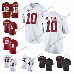 7e4a3c7e6 Alabama Crimson Tide  10 Reuben Foster 12 Ken Stabler 22 Ryan Anderson 4  Mark Barron White Red Black Re.Foster College Football Jerseys