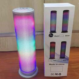 pulse mini speaker 2019 - Mini Bluetooth Pulse Speaker LED Flash Light Wireless Hifi Stereo Surround Subwoofer Outdoor Music MP3 Player Handsfree