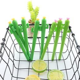 1 Pcs Nouveau Mignon Créatif kawaii Cactus Gel Stylo Plantes Succulentes Papeterie Enfants Cadeau École Papeterie Stylo en Solde